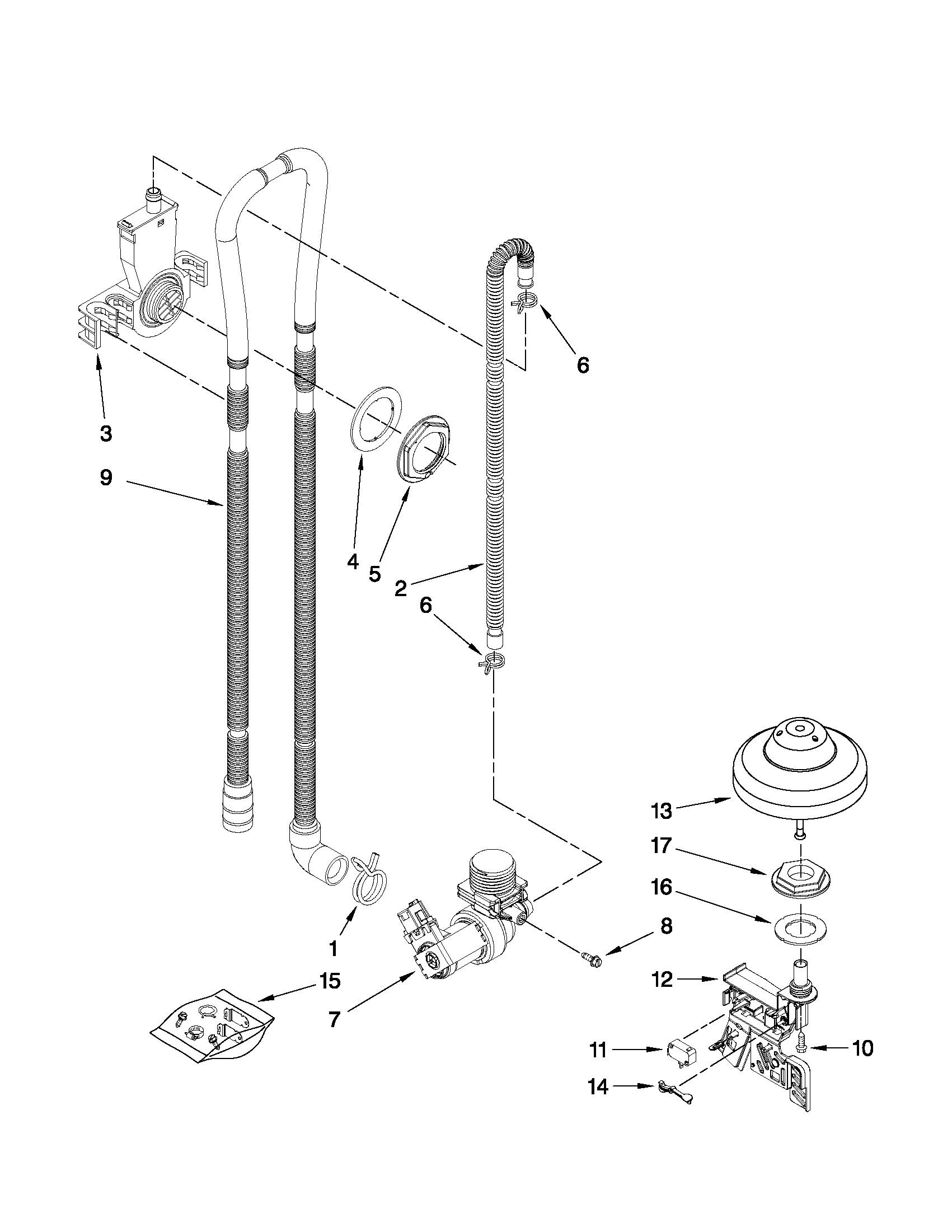 Frigidaire Gallery Dishwasher Parts Diagram