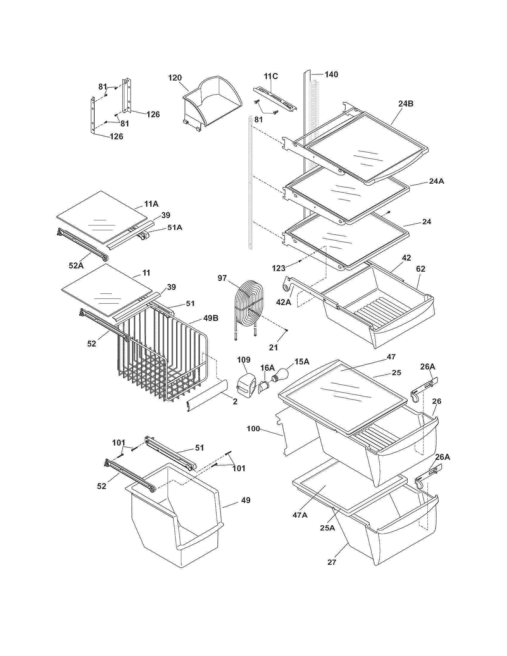 Frigidaire Gallery Refrigerator Parts Diagram