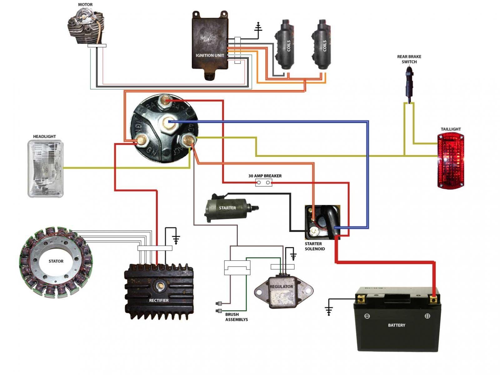 Honda Cb750 Chopper Wiring Diagram Schematics Diagrams Engine Bobber Enthusiast U2022 Bsa