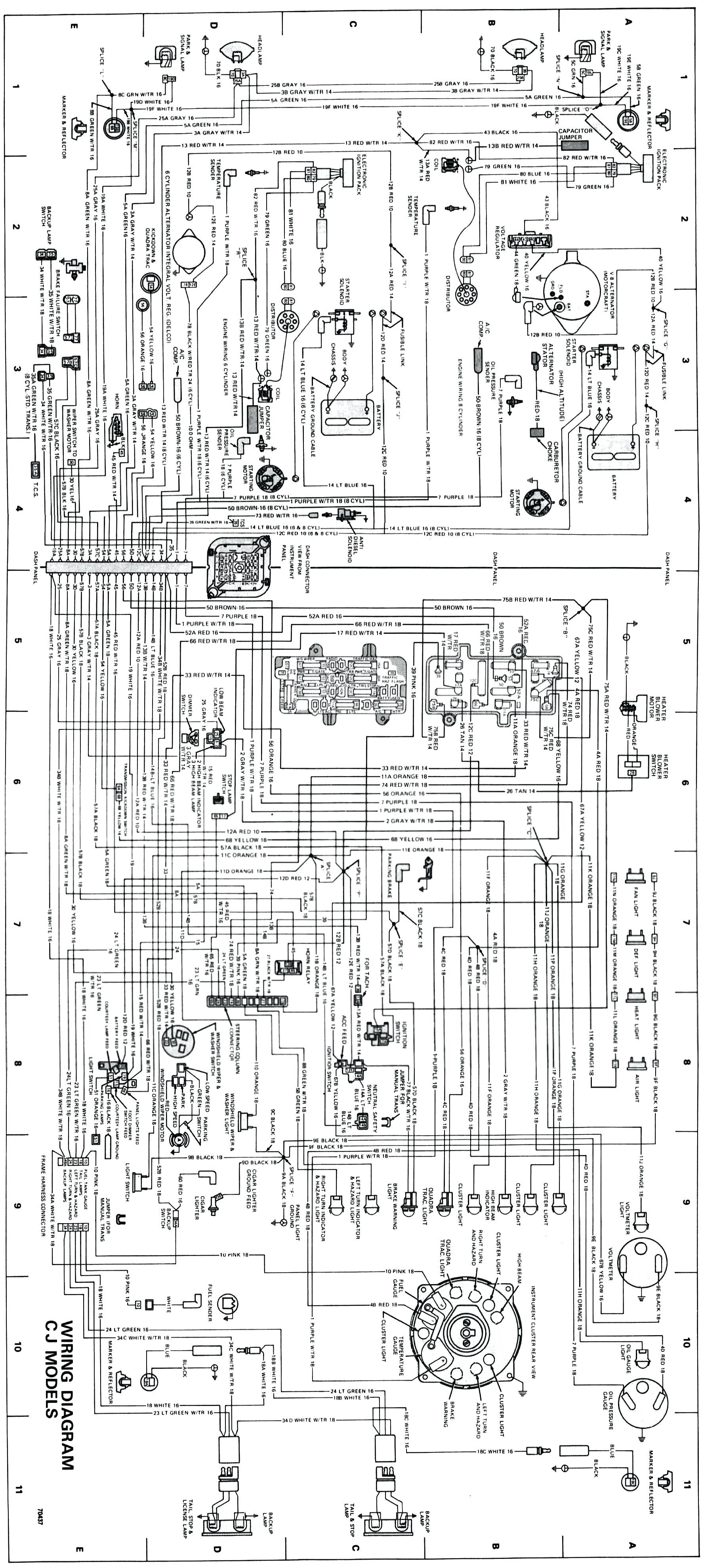 Jeep Cj7 Starter Wiring Diagram Schematics 1974 Cj5 External Regulator 1982 Harness Voltage