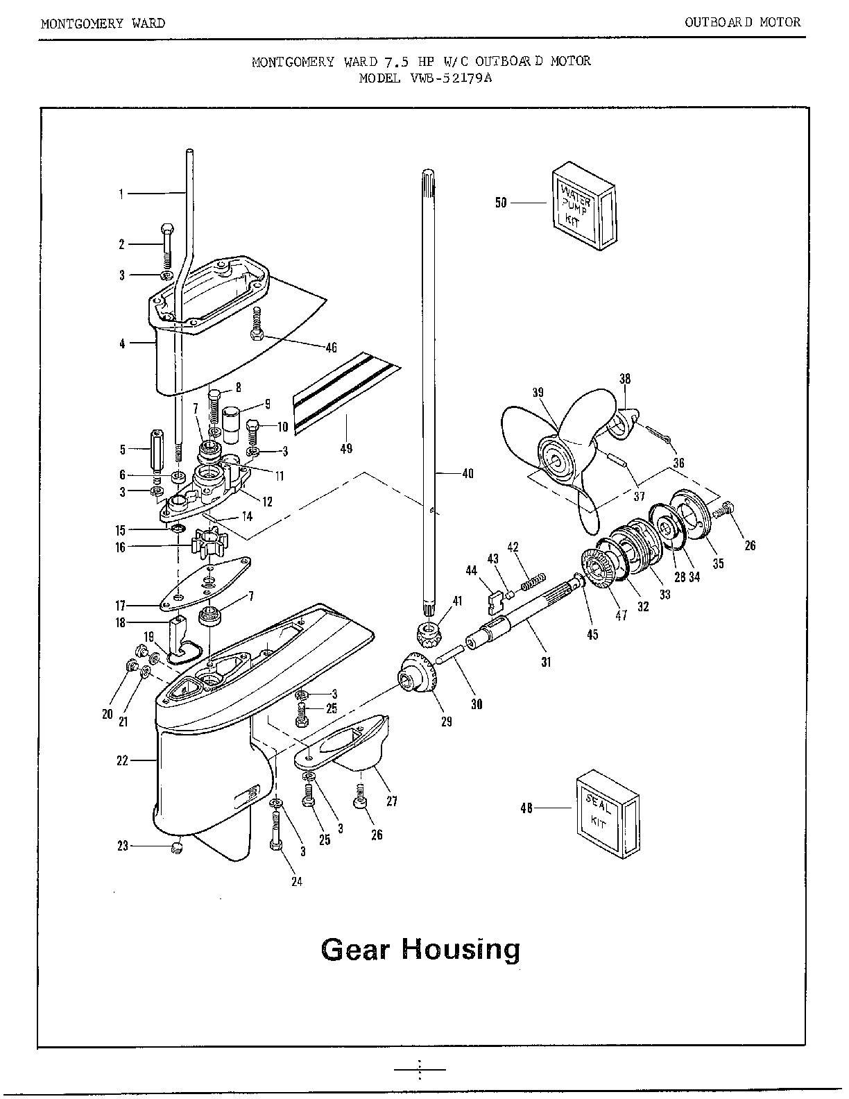 40 Hp Johnson Outboard Parts Diagram