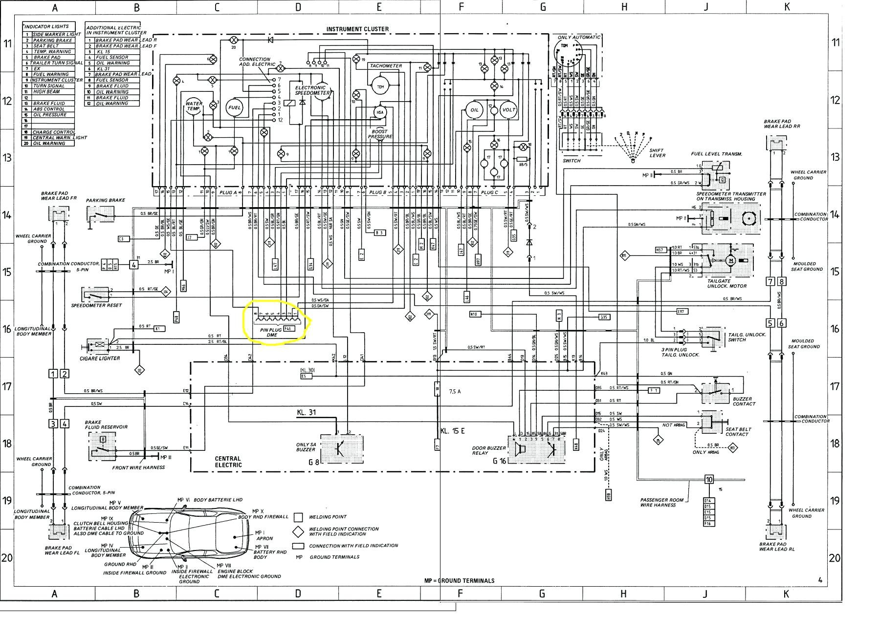 Porsche 944 Turbo Fuse Box Diagram