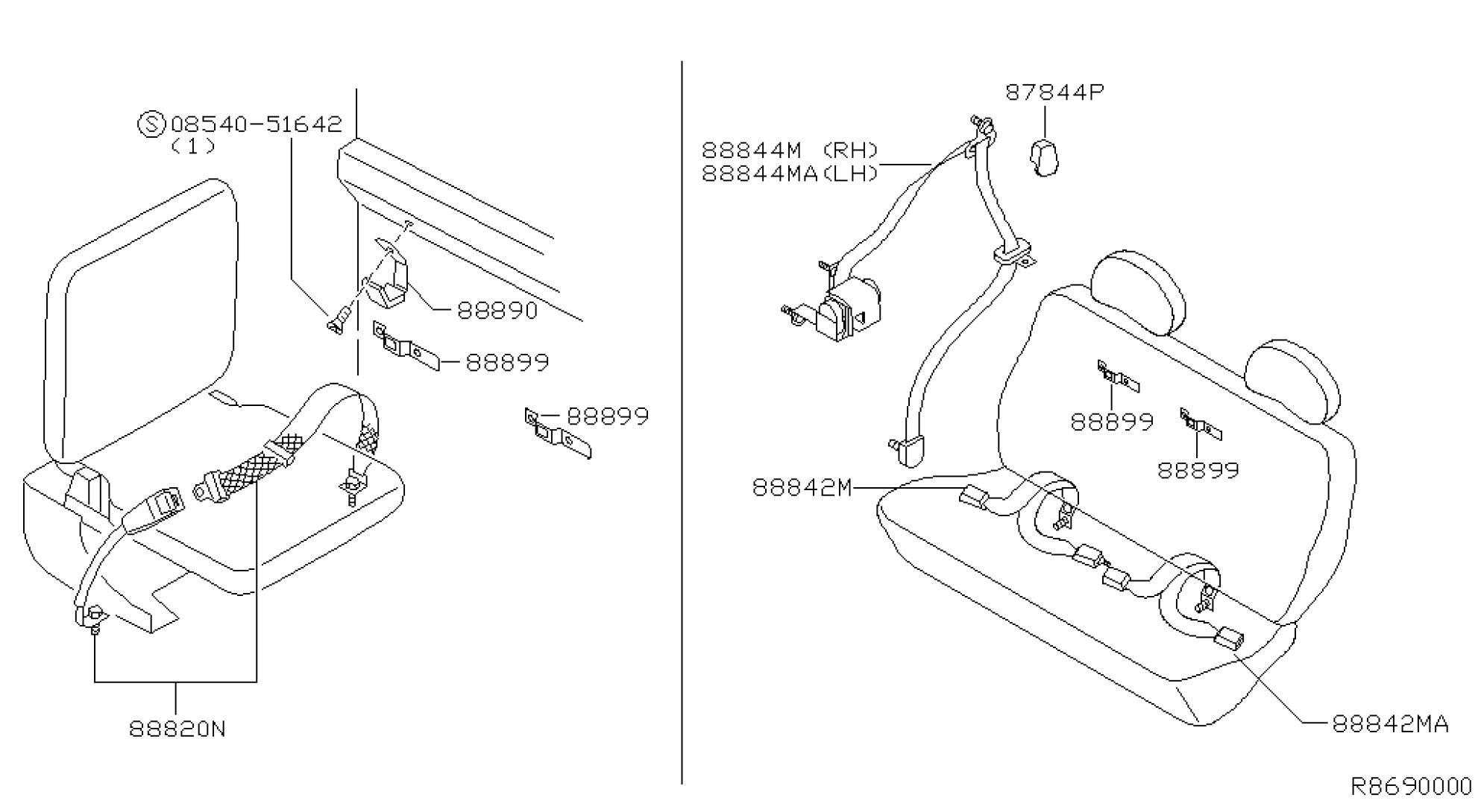 Seat Belt Parts Diagram