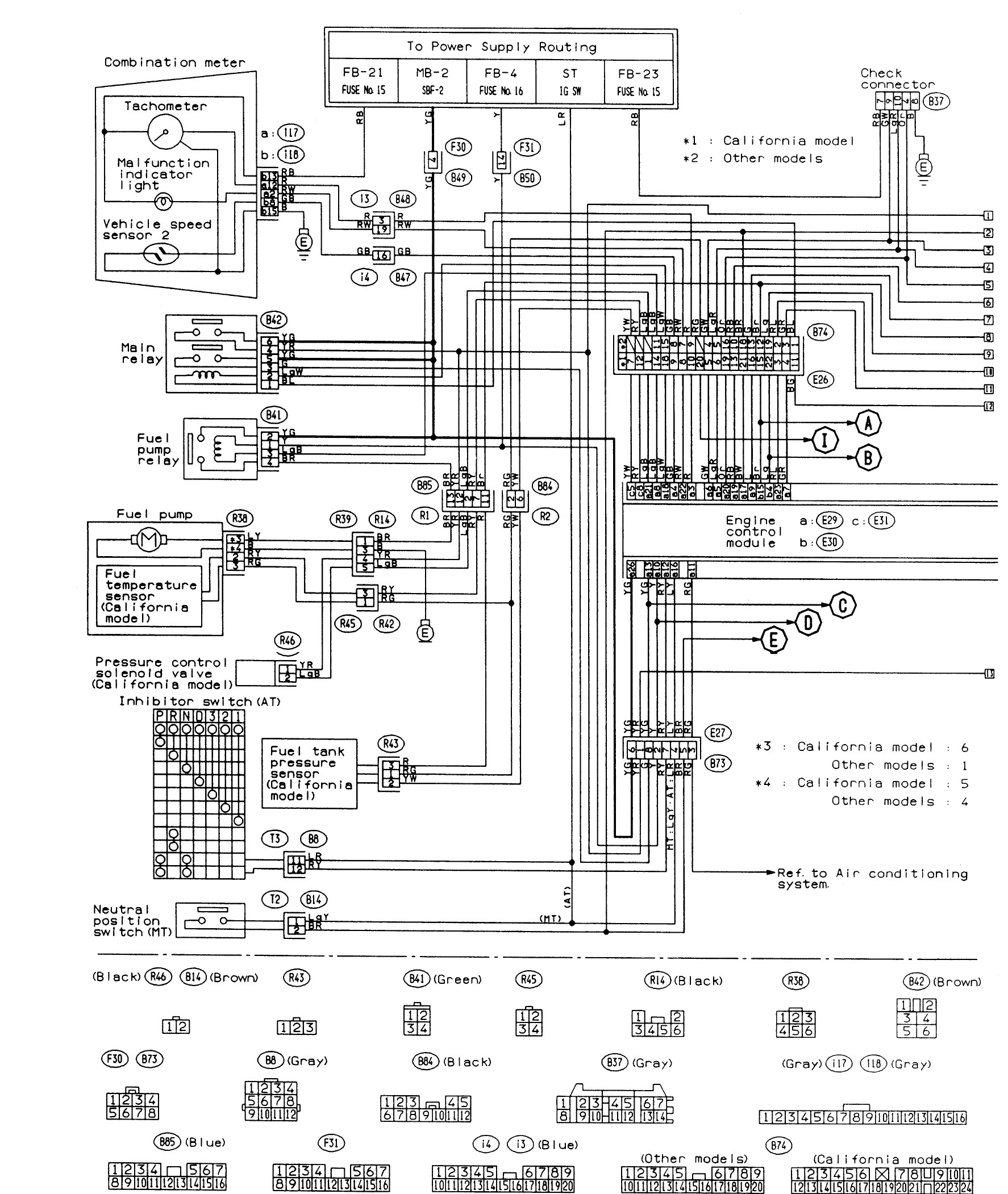 Subaru Engine Parts Diagram