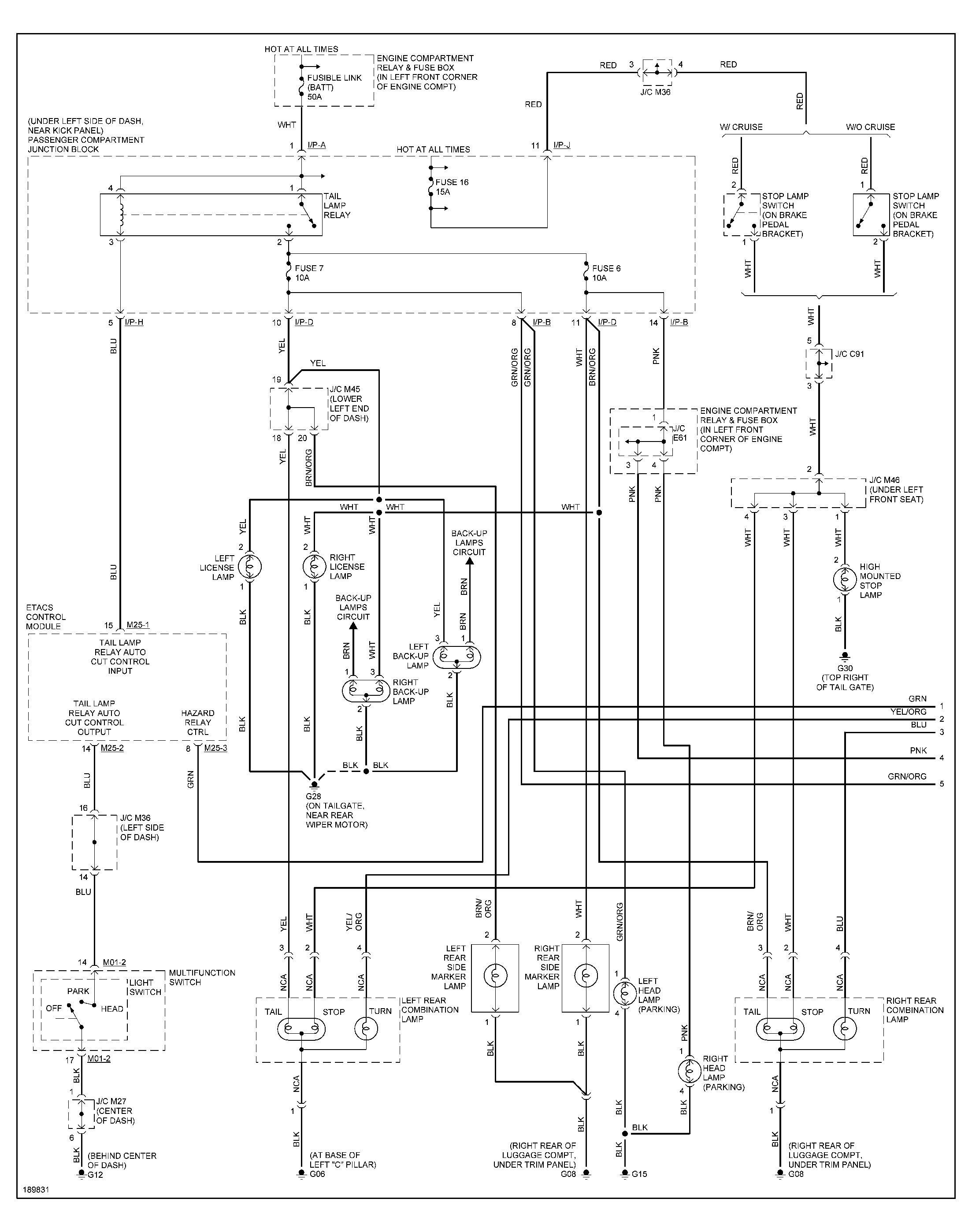 2001 Hyundai Sonata Fuse Box Diagram