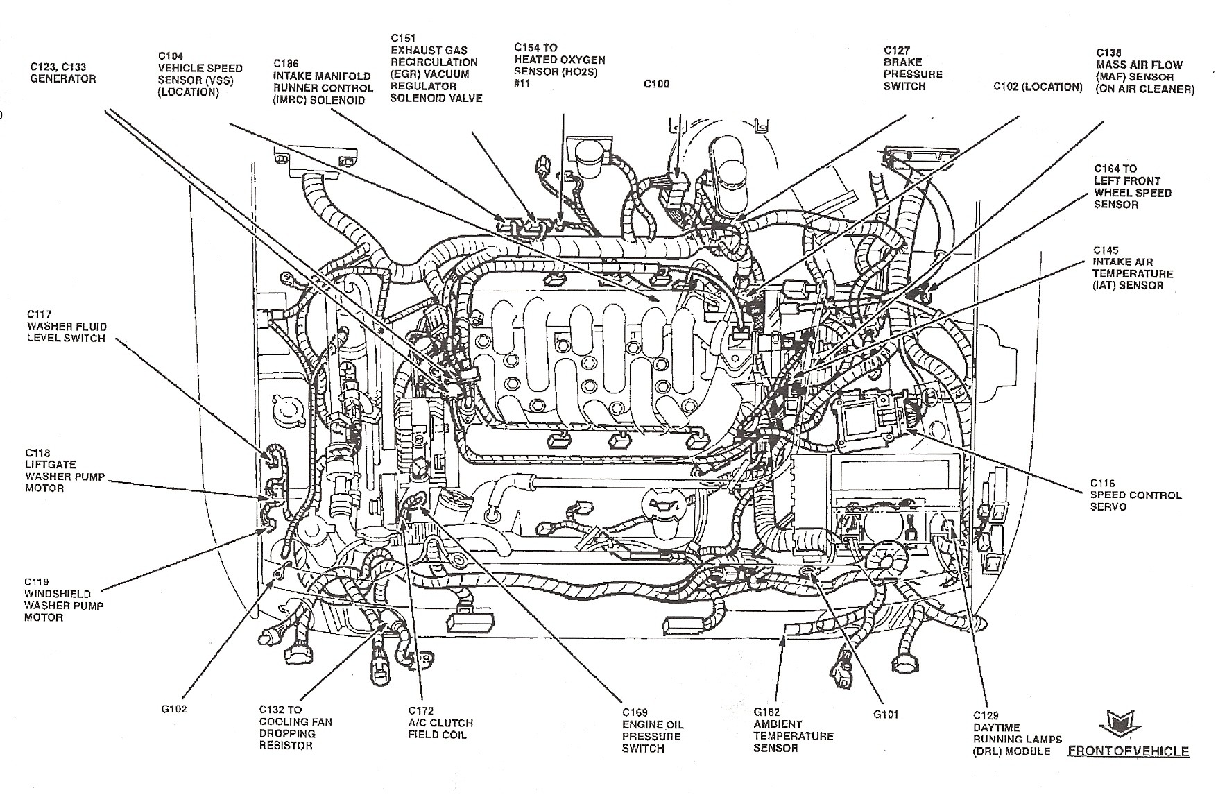 Ford Taurus Vacuum Hose Diagram
