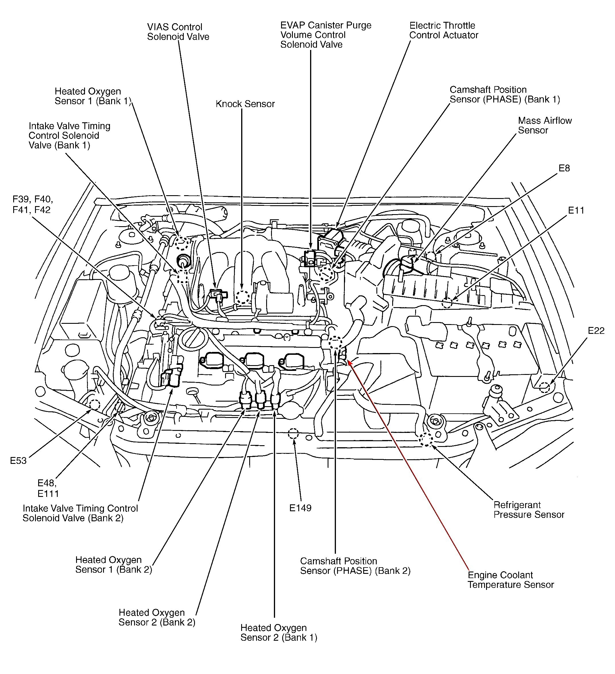Wrg Nissan Pathfinder Engine Diagram Left Side