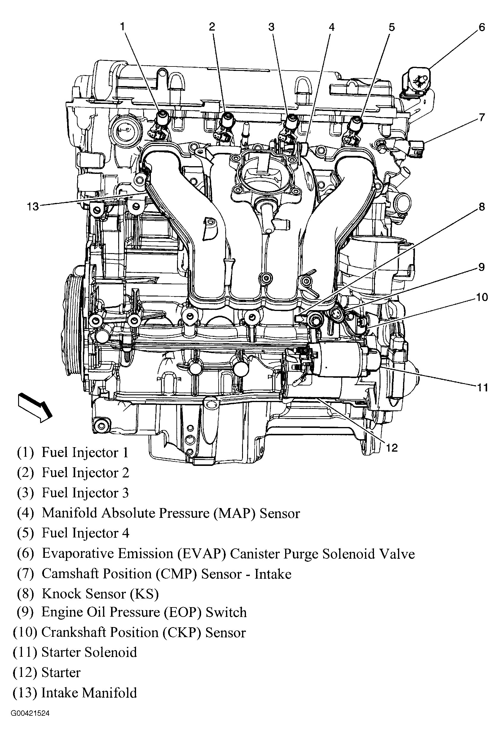 2011 chevy impala engine diagram