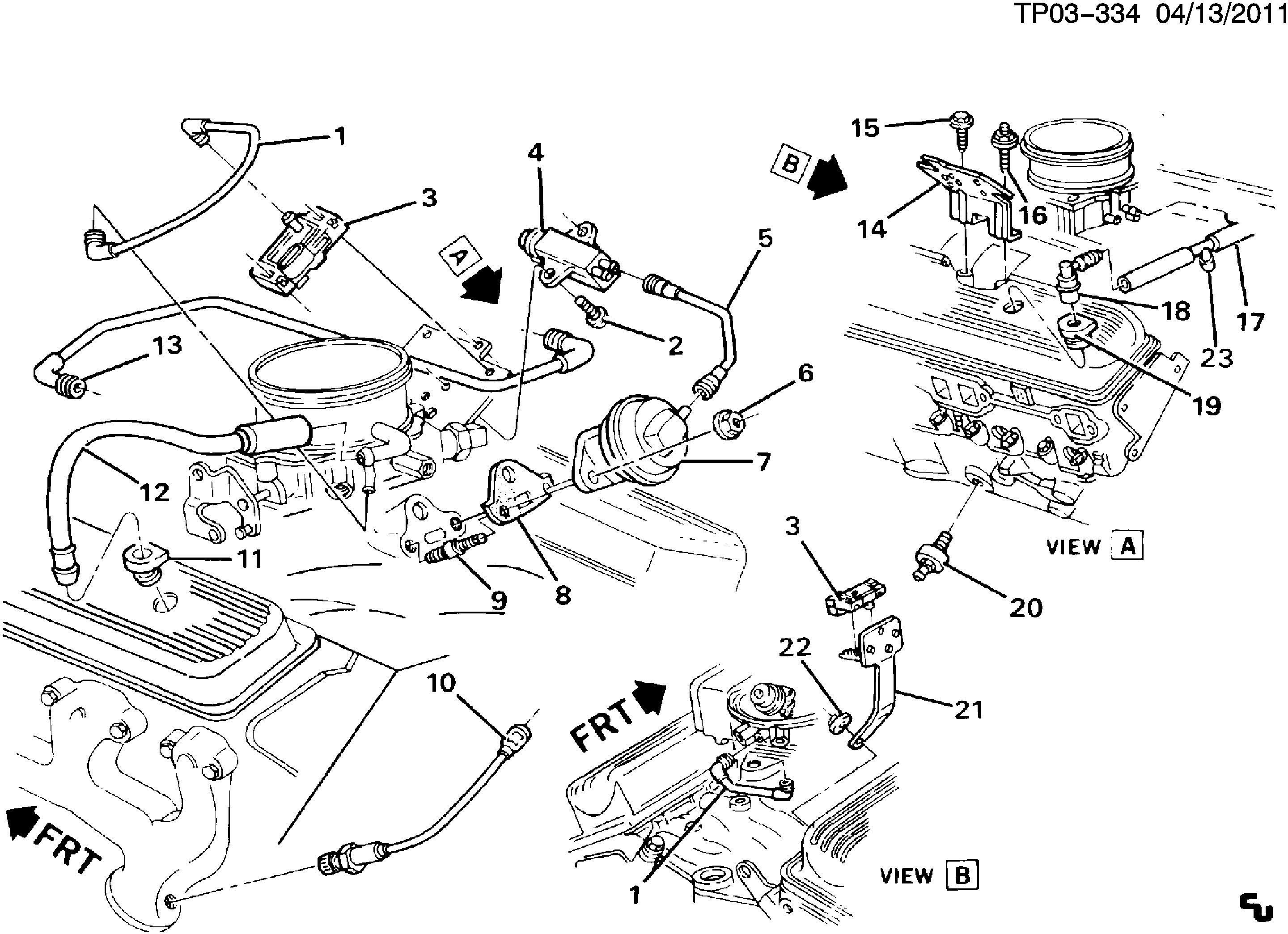Chevy 5 7 Tbi Engine Vacuum Diagram