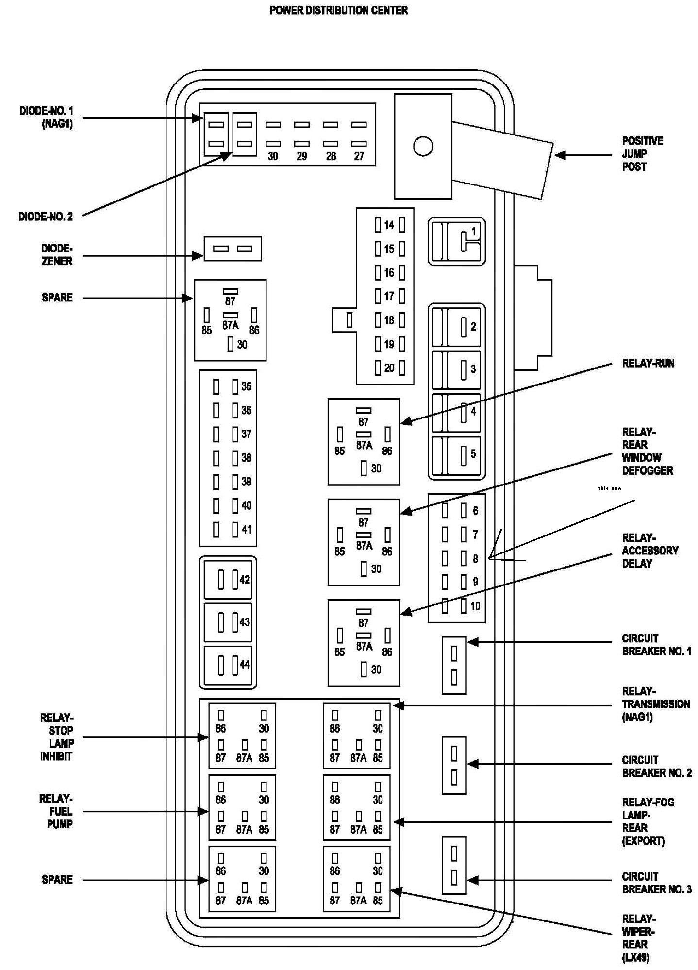 2006 Ram Fuse Diagram - wiring diagram on the net Abs Wiring Diagram Dodge Magnum on