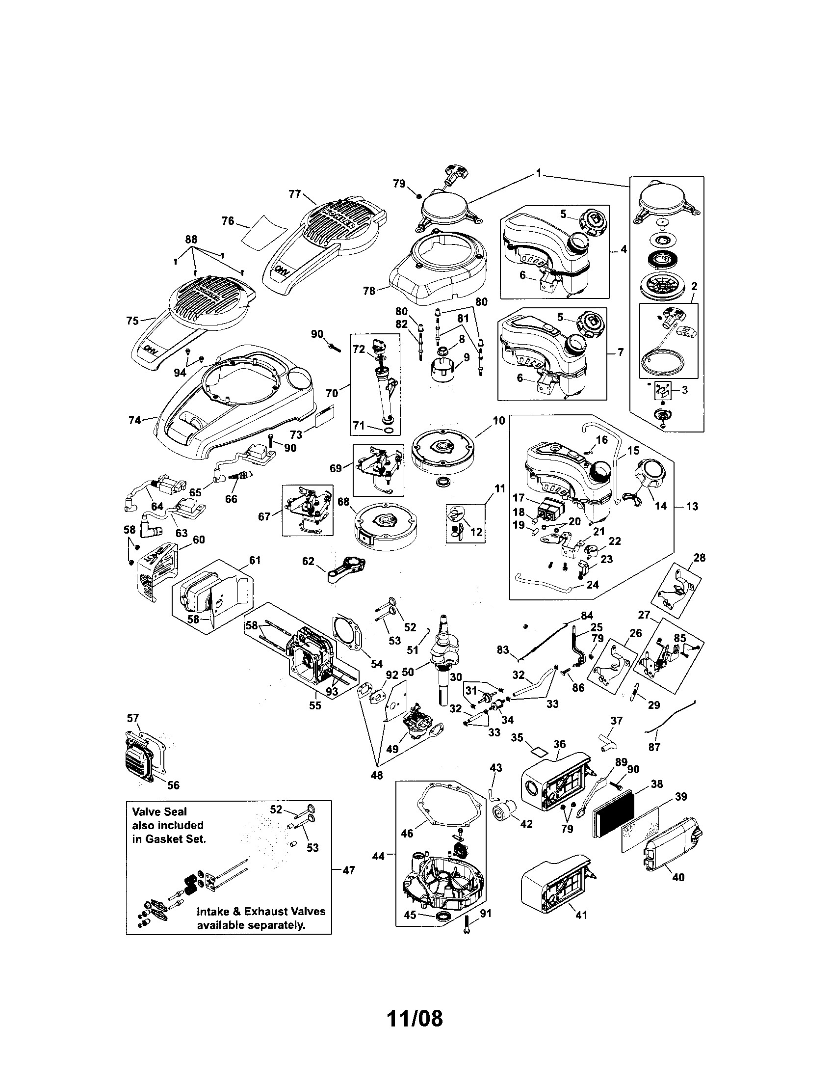 Kohler K241 Engine Diagram