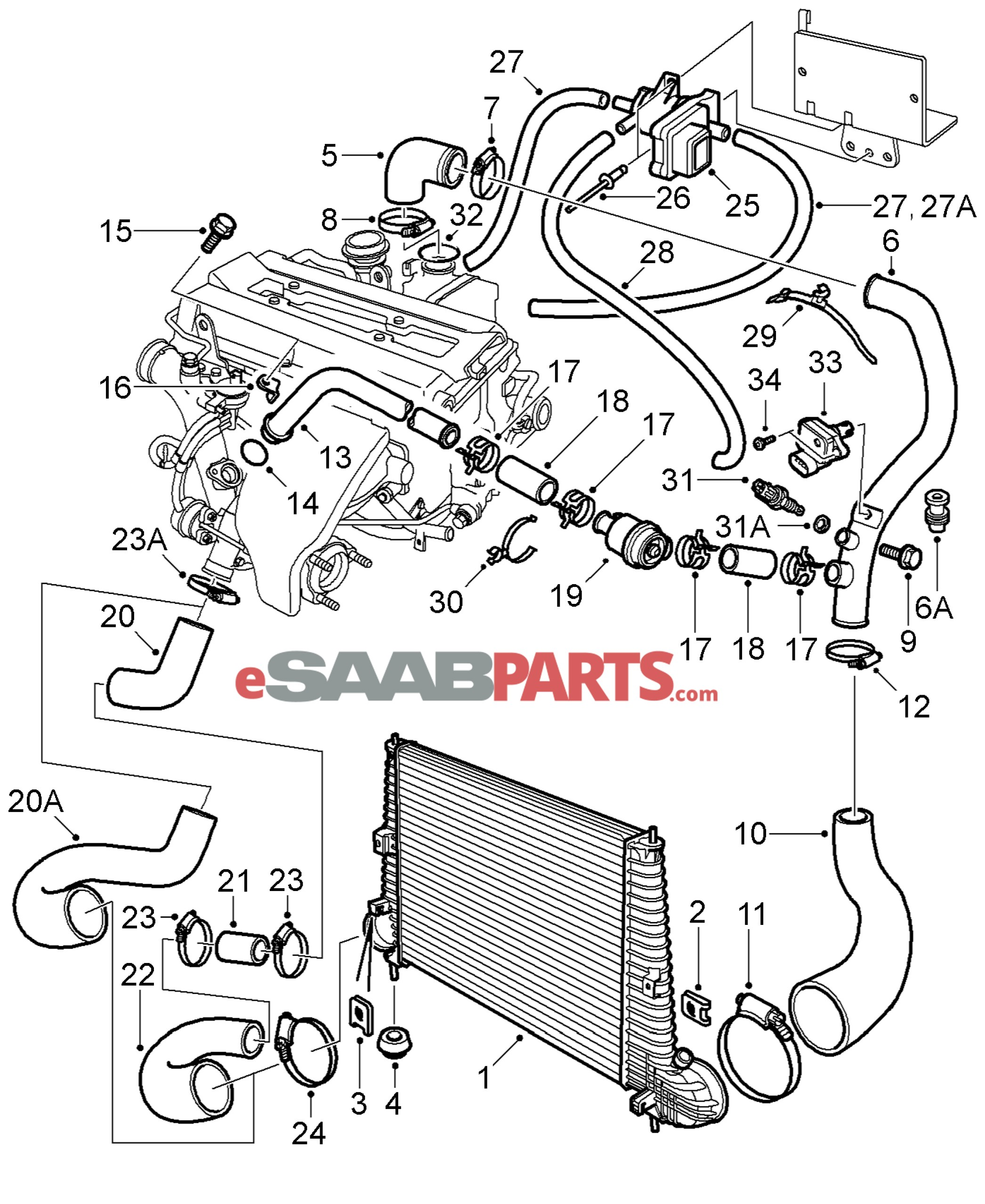 Saab 9 3 engine diagram my wiring diagram rh detoxicrecenze saab 9 3 parts diagram
