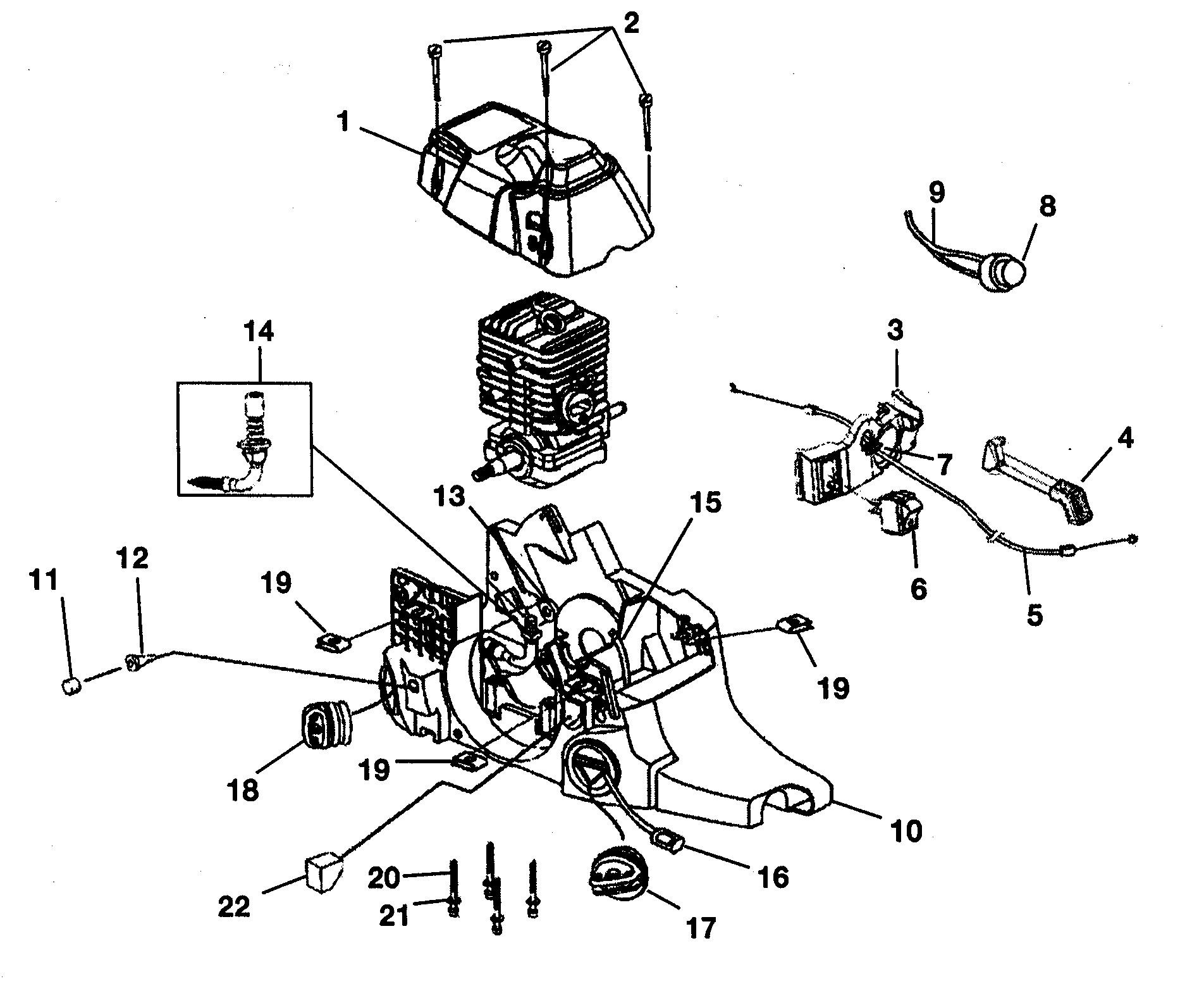 Homelite 360 Chainsaw Parts Diagram