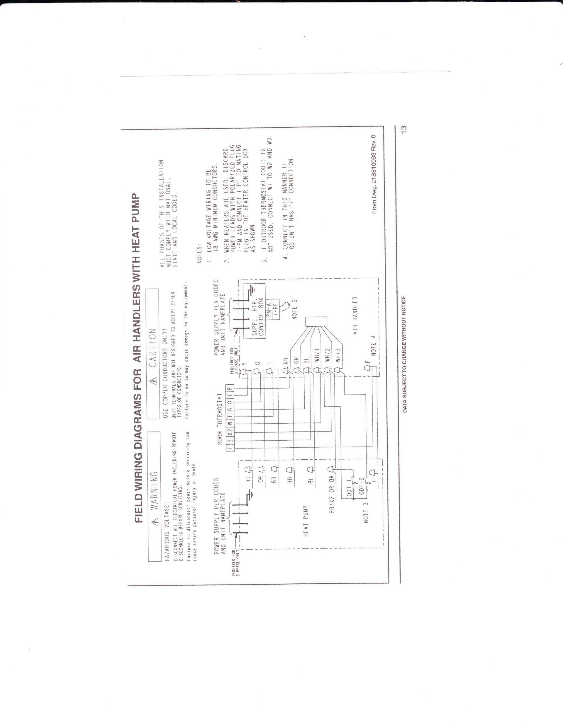 Trane Heat Pump Wiring Diagrams