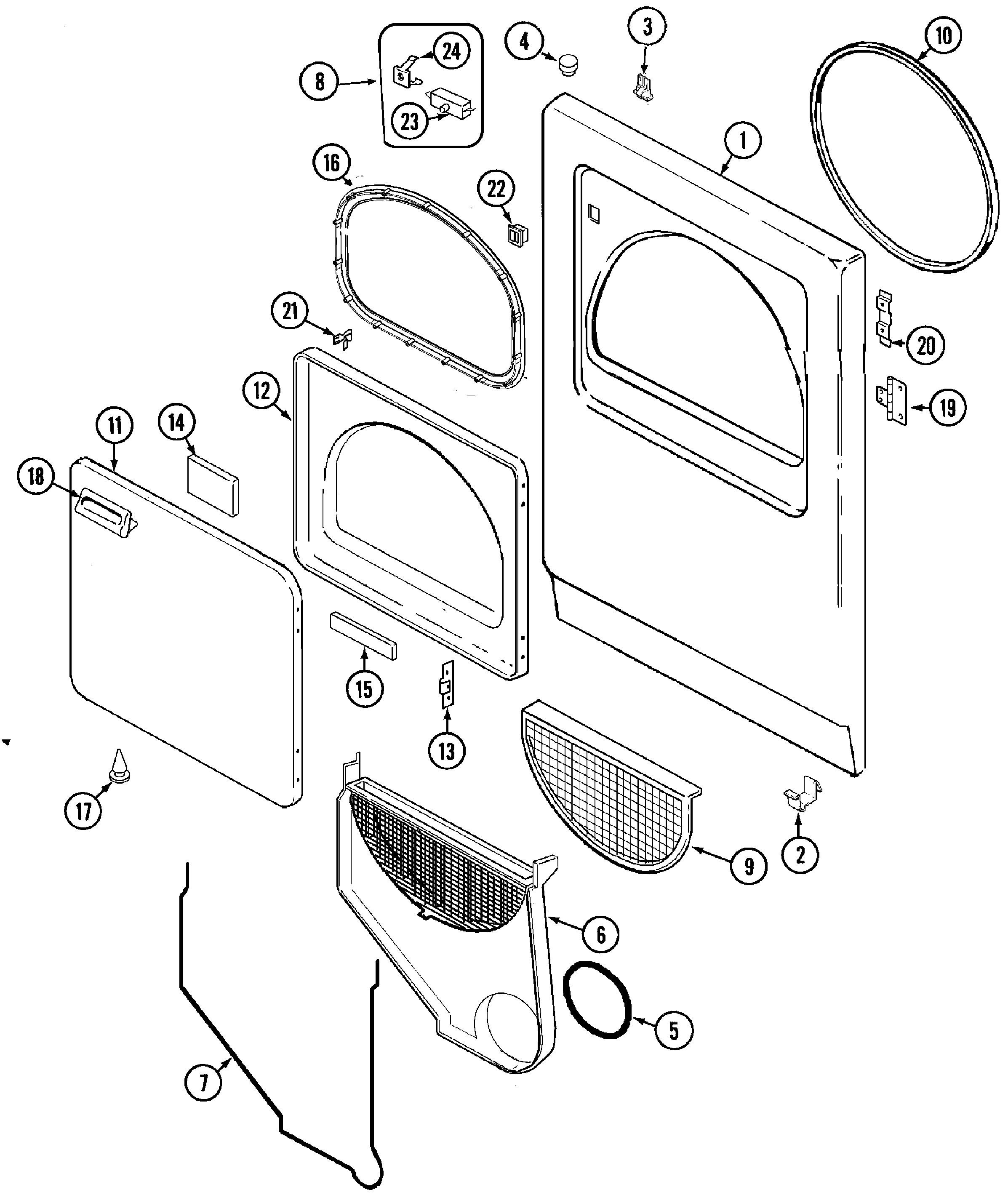 Admiral Washing Machine Parts Diagram