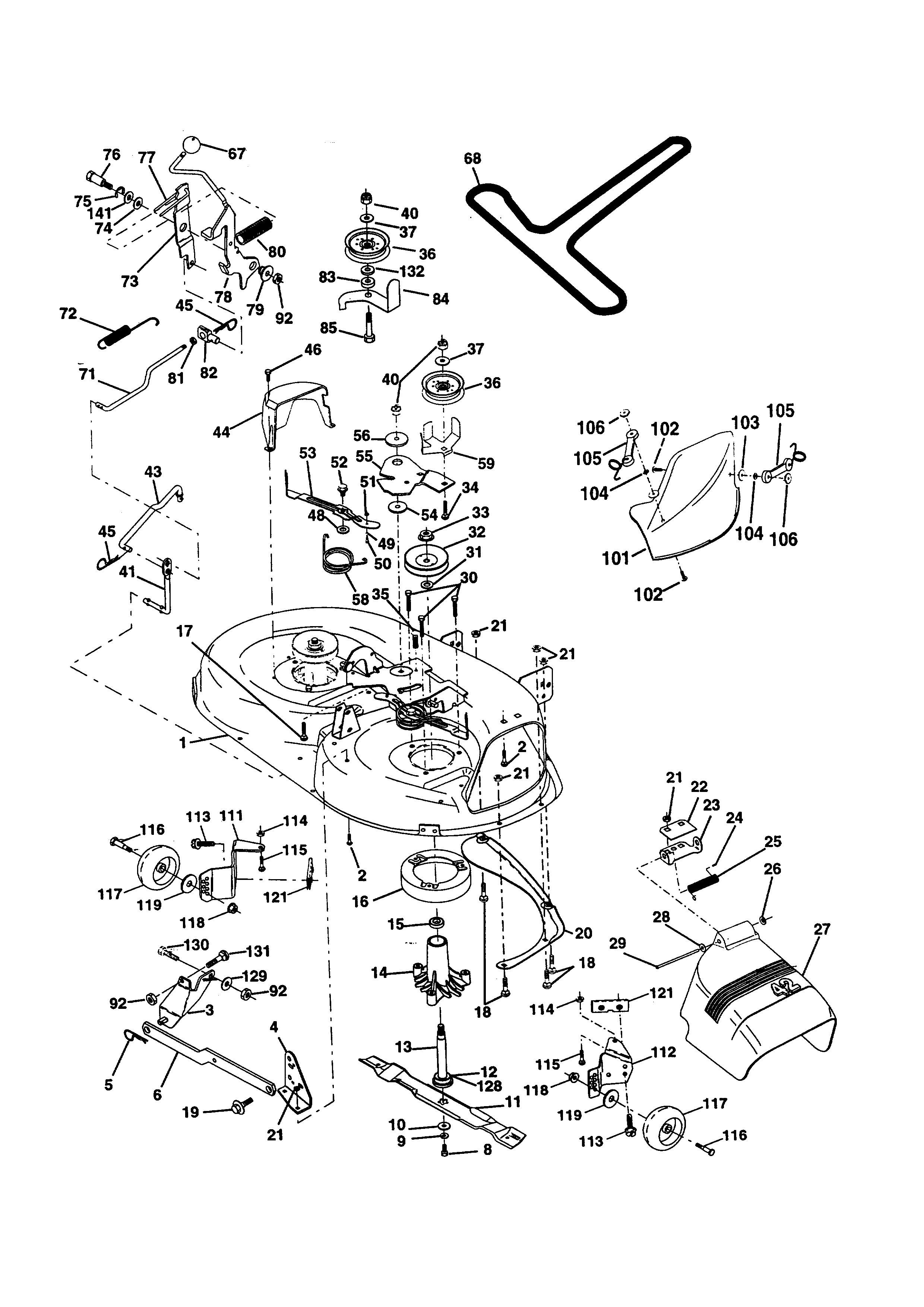 Craftsman 42 Riding Mower Parts Diagram