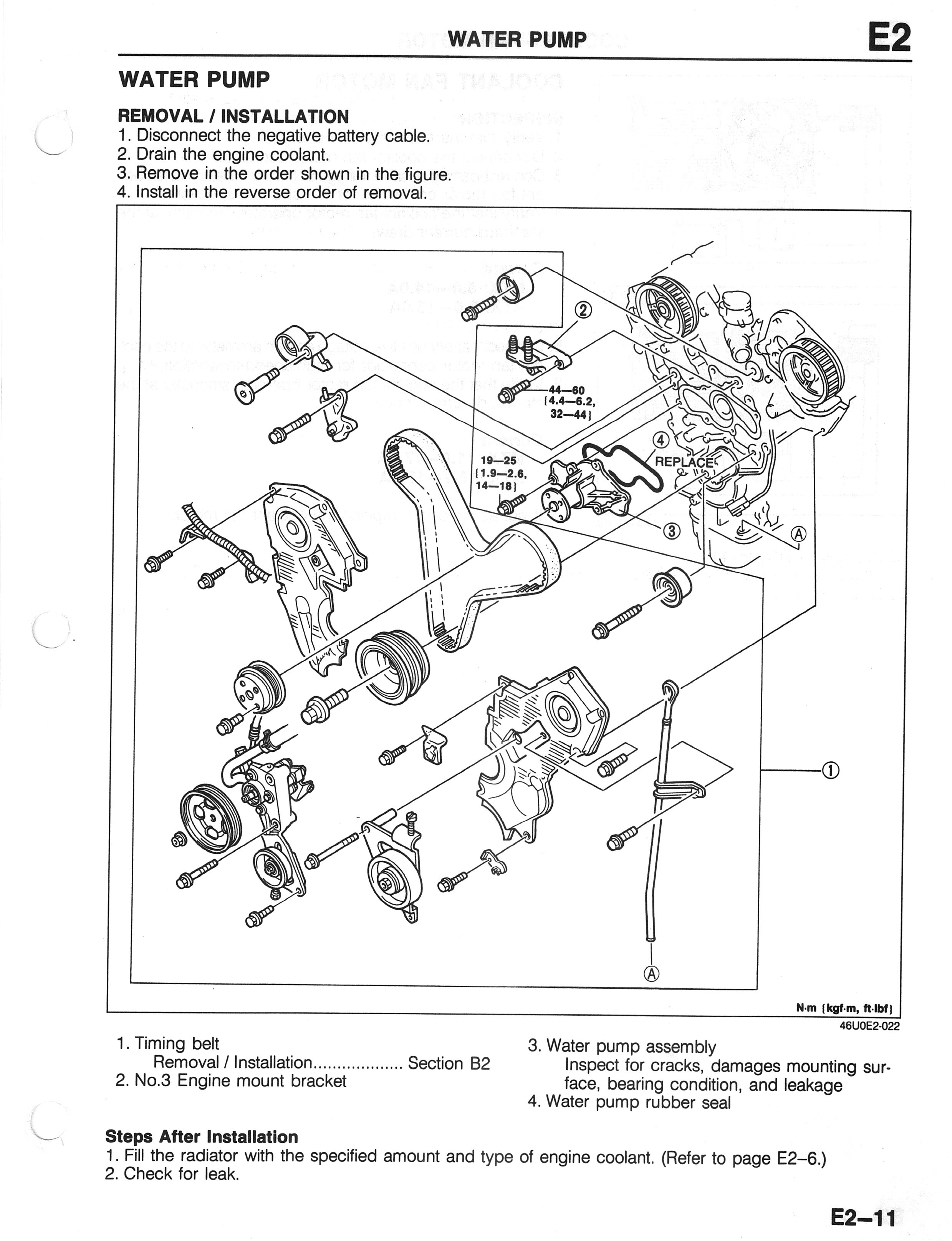 Mazda 626 Engine Diagram