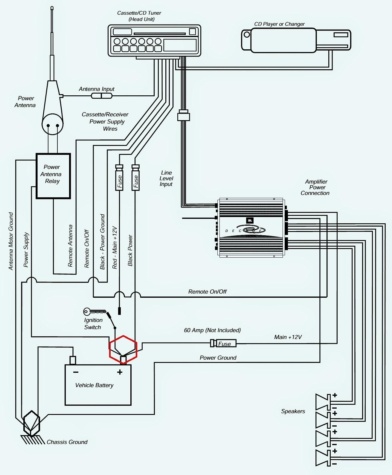 Car Radio Harness Diagram