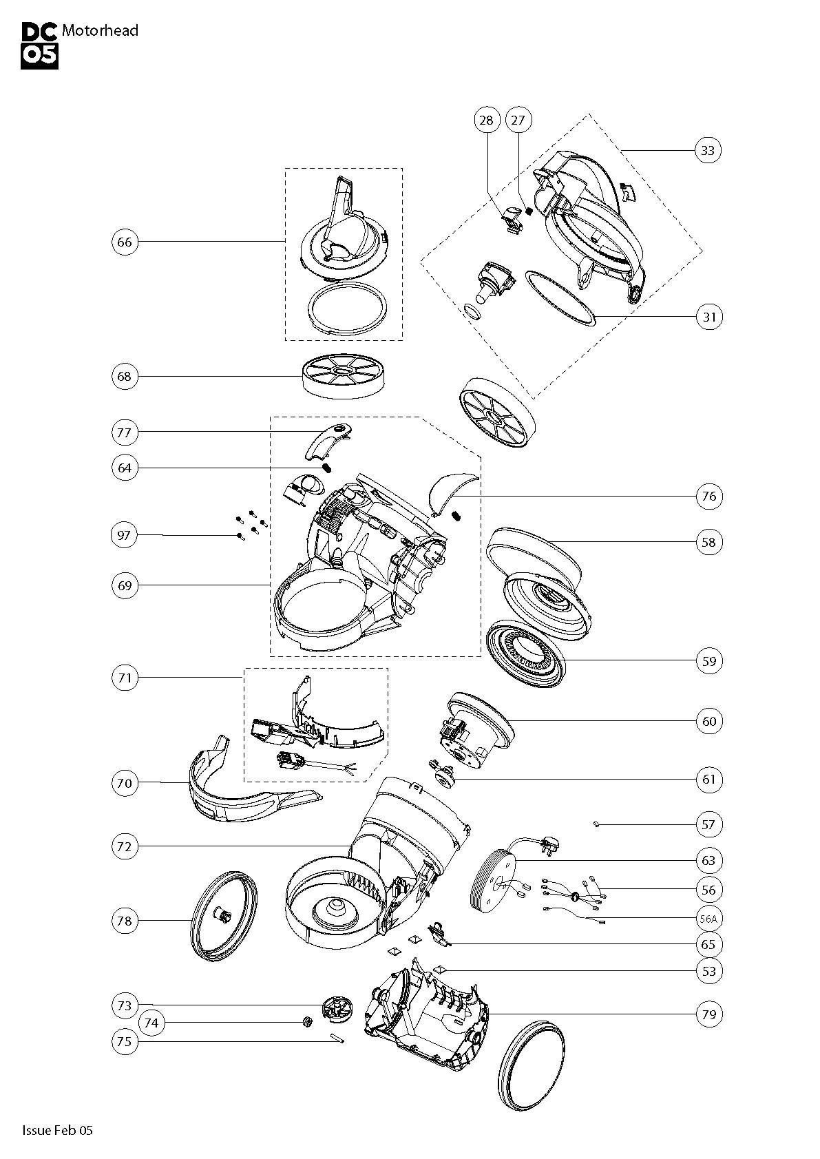 Dyson Vacuum Parts Diagram Vacuum Parts Vacuum Parts