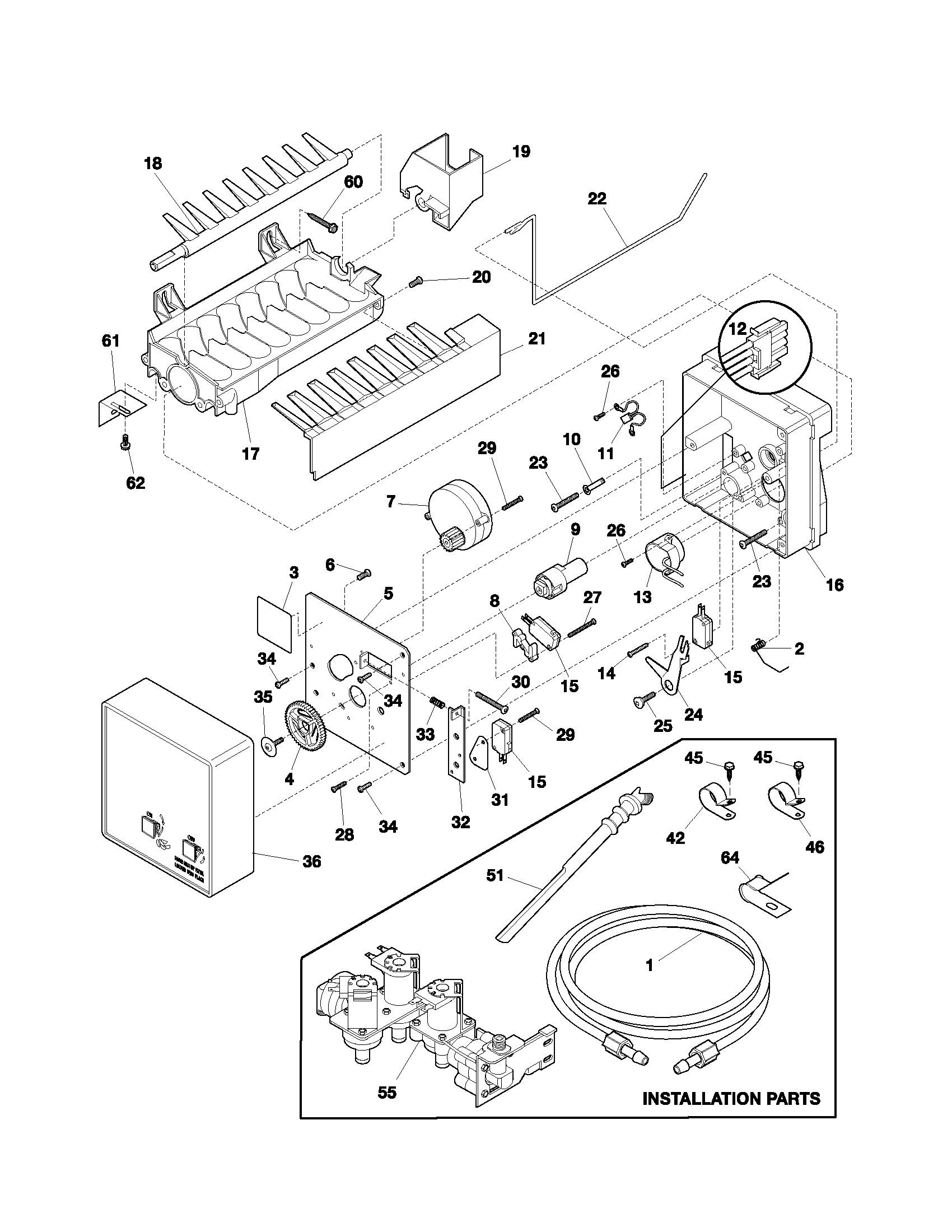 Electrolux Refrigerator Parts Diagram