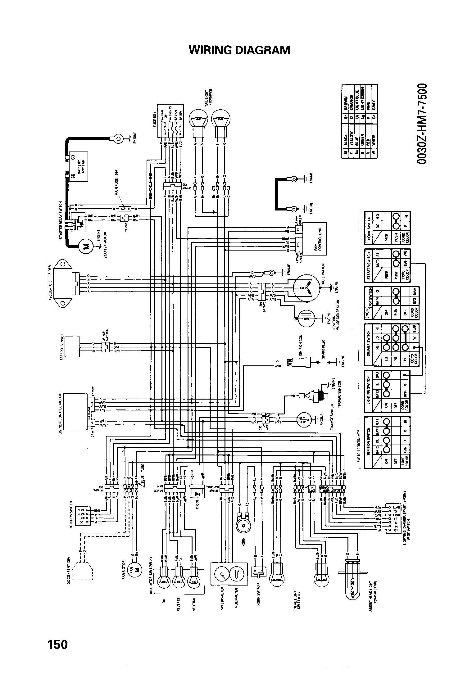 2006 honda rancher wiring diagram repair machine 2008 Honda Foreman Wiring-Diagram