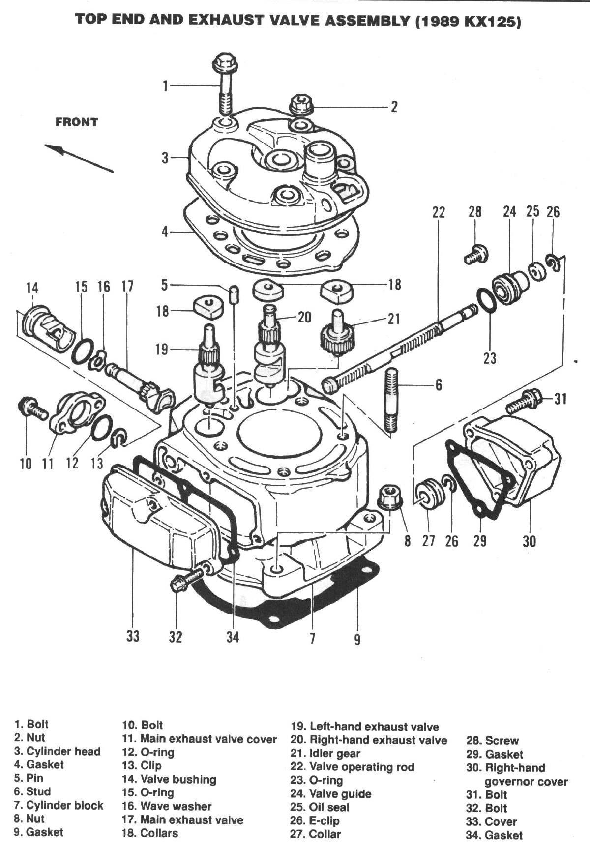 Kx 250 Engine Diagram