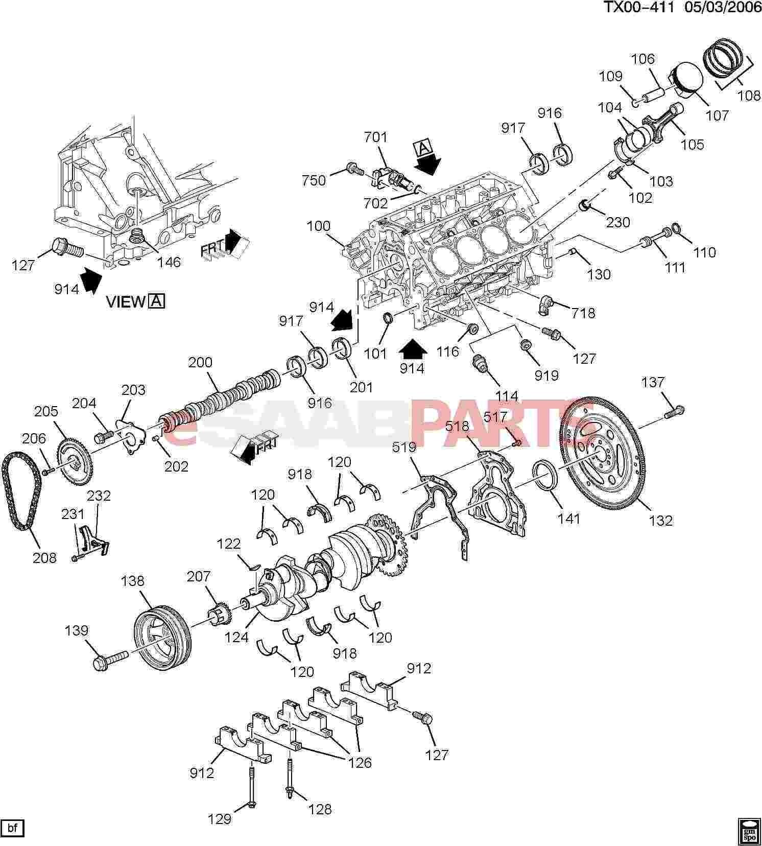 V8 Engine Parts Diagram