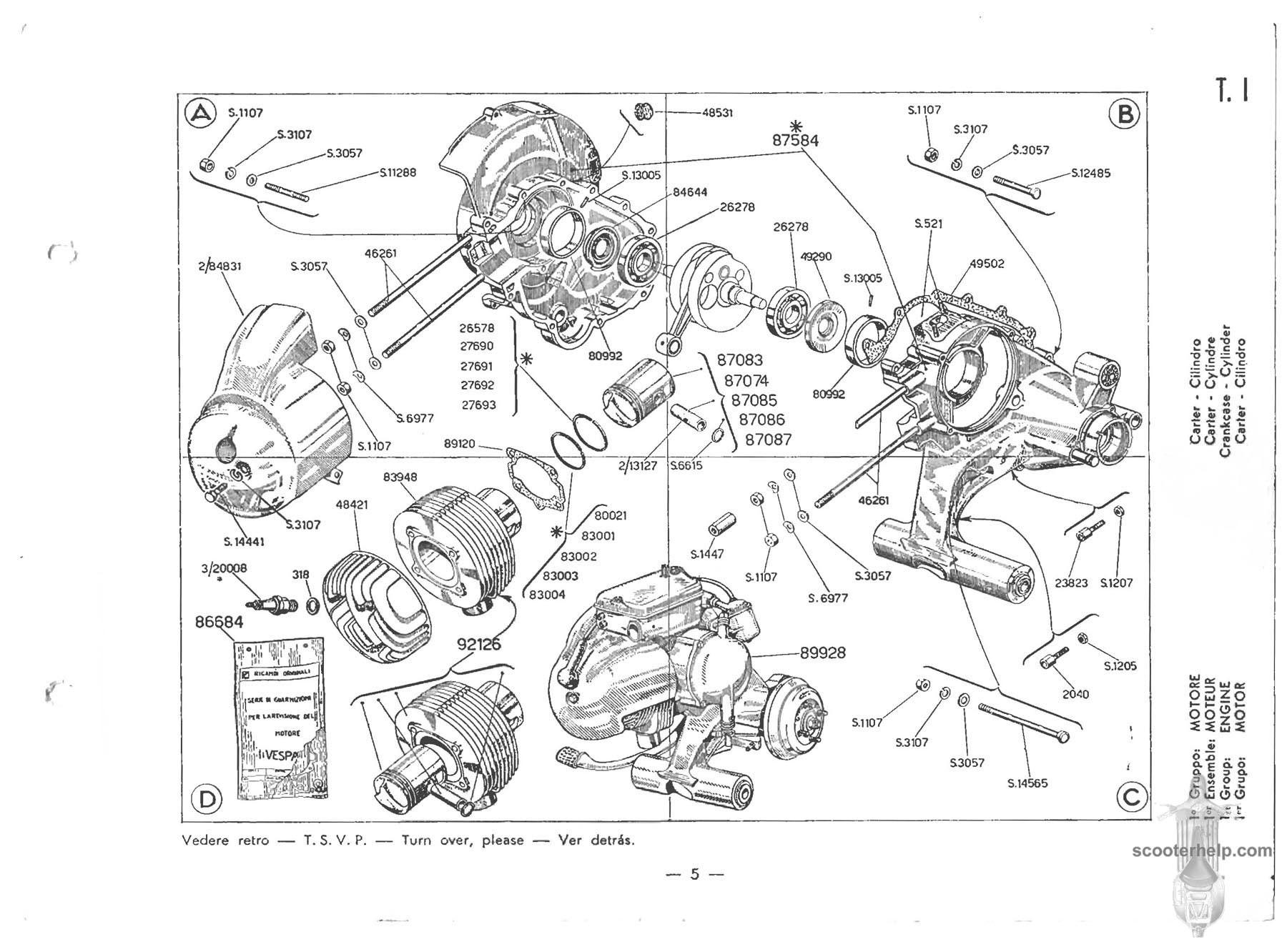 Vespa Engine Diagram