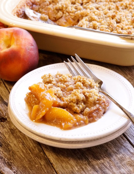 Peach Crisp from Detoxinista