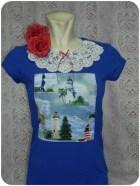 Camiseta navy romántica