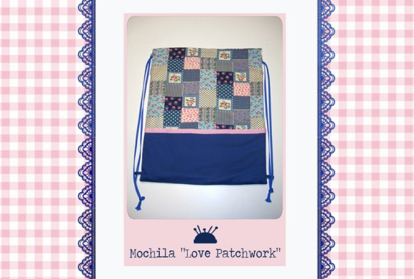 Mochila love patchwork
