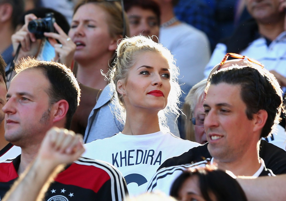 Lena Gercke, girlfriend of Sami Khedira (Photo by Martin Rose/Getty Images)