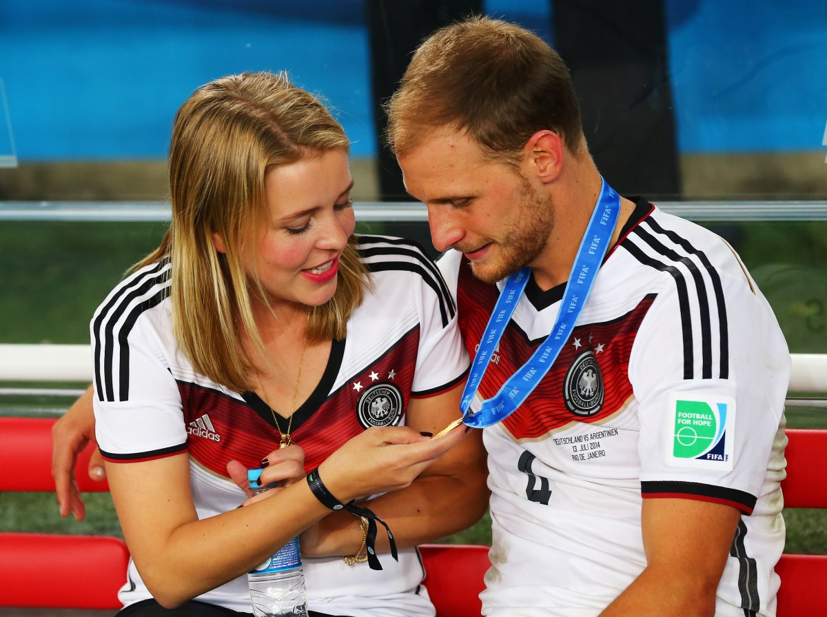 Lisa Wesseler and Benedikt Hoewedes (Photo by Martin Rose/Getty Images)