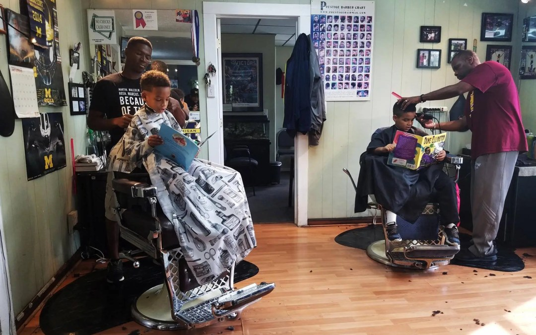 Master Barber Ryan Griffin's 'Read to Your Barber' Literacy Program is Bringing Books to Ypsilanti!