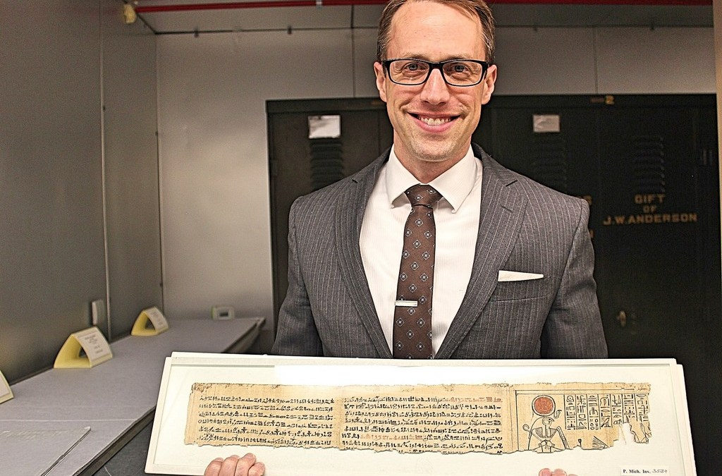 Exclusive Interview: University of Michigan's Papyrology Collection, worth an estimated $100 million dollars, is the largest collection of papyrus in North America and run by Archivist BRENDAN HAUG!