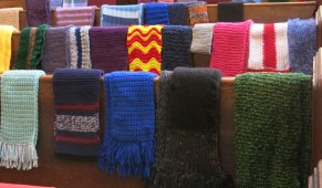 Just a few of the scarves