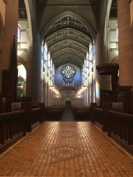 Thanks to the volunteers who came out to dust and clean, the Cathedral is ready for the Presiding Bishop