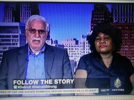 Detroit retirees David Sole and Cynthia Blair on Aljazeera America.