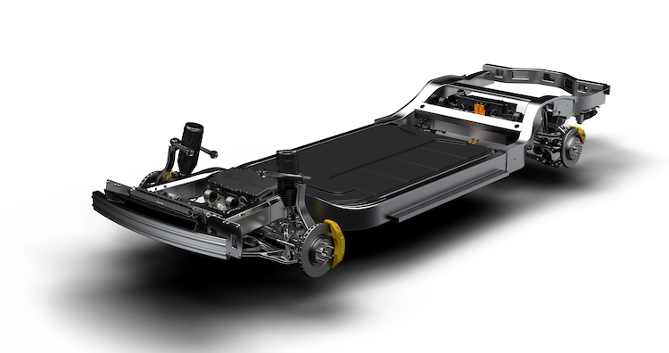 "Rivian's two vehicles are built on their ""skateboard"" platform, which the company will supply to other OEMs to further develop."