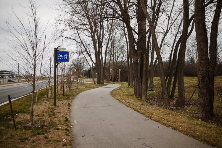Southfield's existing shared-use path.
