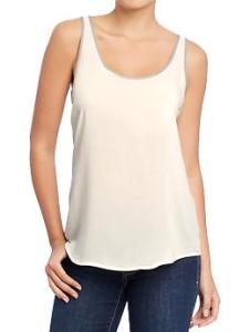 Tipped Poplin Top