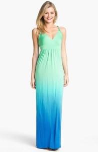 Ombré Jersey Maxi Dress