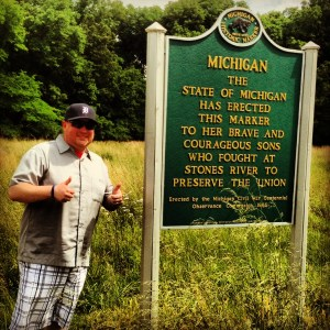 John at the Michigan Marker