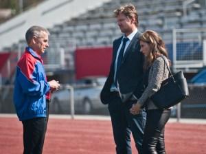 Dani and Matt with the new Hawks coach