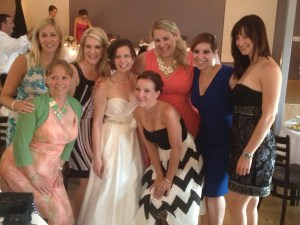 Me and my friends with the beautiful bride