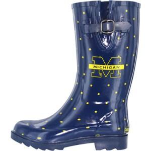 Michigan Polka Dot Rain Boots