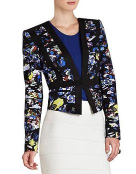 BCBG Keely Print-Blocked Jacket