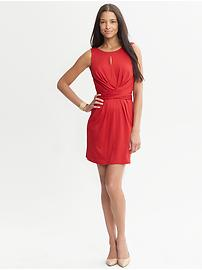 Issa Collection Red Wrap-Tie Dress