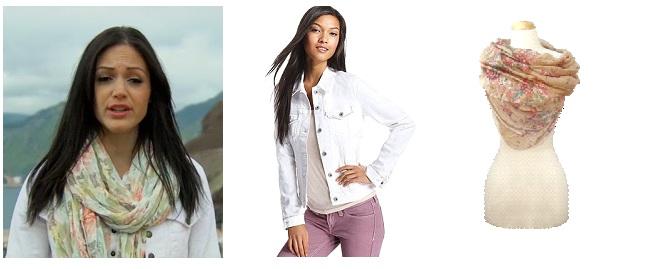 scarf jean jacket