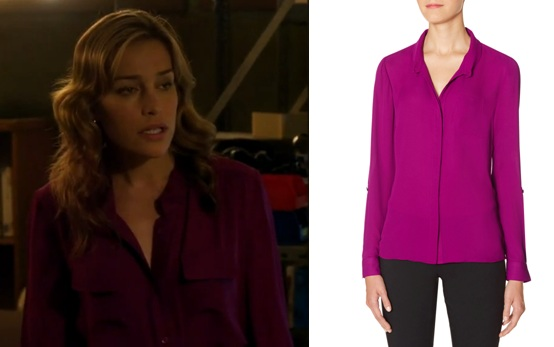 radiant orchid blouse